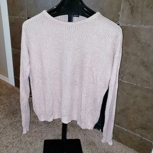 BRANDY MELVILLE BLUSH PINK KNIT PULLOVER SWEATER